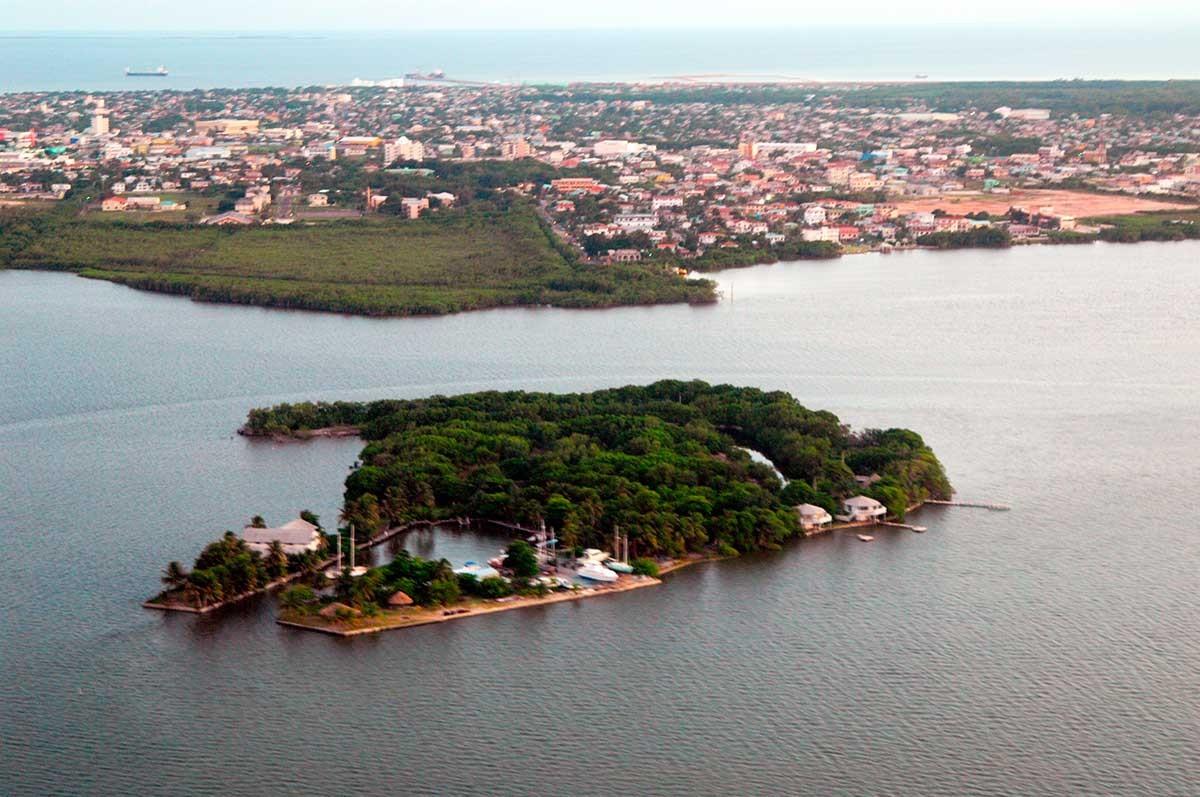 Vista aerea de la ciudad de Belize.