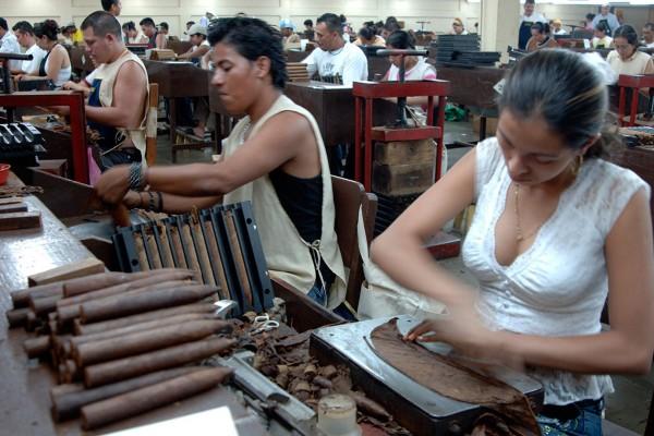 Manufacturacion del tabaco de nicaragua en una de las muchas que hay en la ciudad de Estelli.