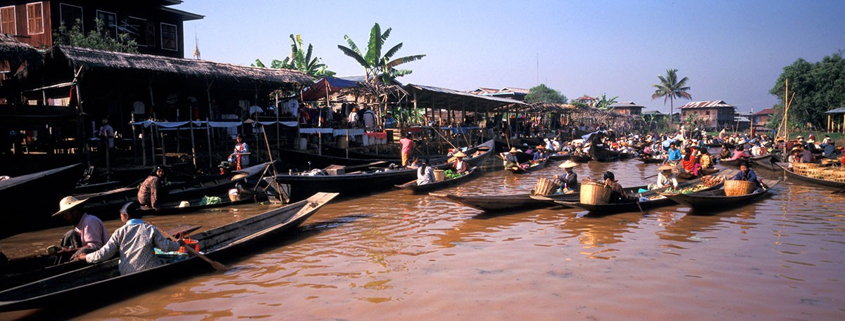 Inle Lake Myanmar floating market