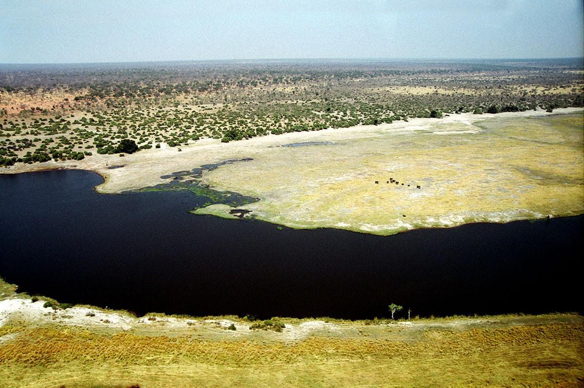 Botswana Delta del Okavango fotografia aerea
