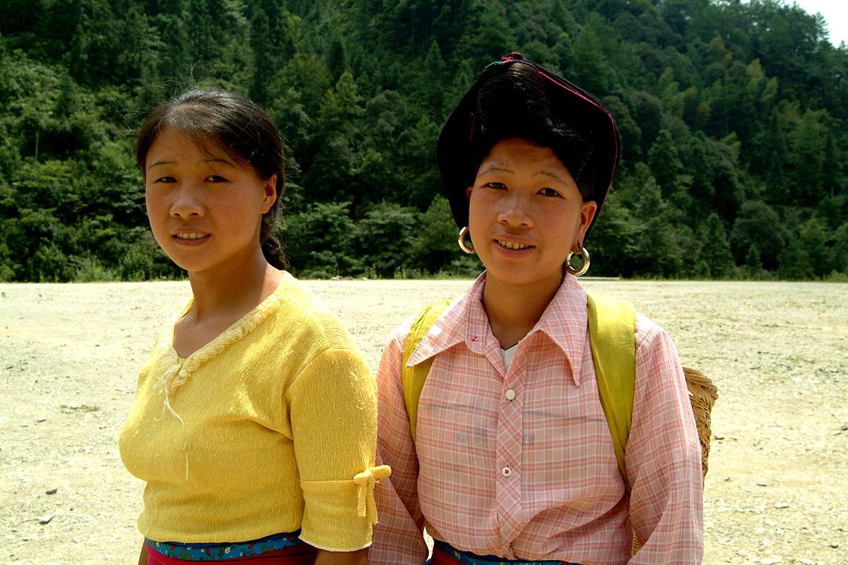 Longsheng Terrazas de arroz Espinazo del dragon mujer Red Yao