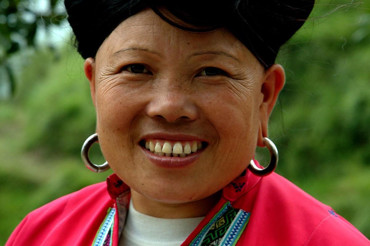 Longsheng Terrazas de arroz Espinazo del dragon mujer Zuang