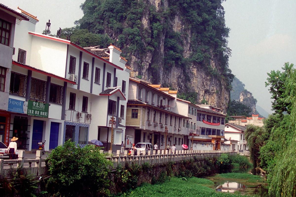 Yangshuo calles riachuelos montañas