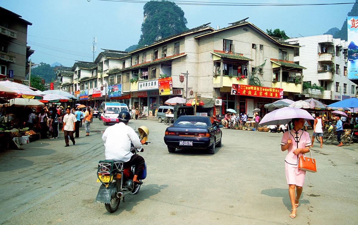 Yangshuo calles mercado